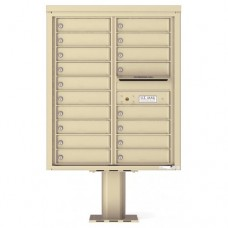 18 Tenant Doors with Outgoing Mail Compartment (Pedestal Included) - 4C Pedestal Mount 10-High Mailboxes - 4C10D-18-P