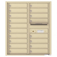18 Tenant Doors with Outgoing Mail Compartment - 4C Wall Mount 10-High Mailboxes - 4C10D-18