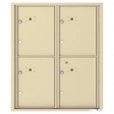 4 Parcel Doors Unit - 4C Wall Mount 10-High - 4C10D-4P