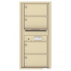 4 Oversized Tenant Doors with Outgoing Mail Compartment - 4C Wall Mount 10-High Mailboxes - 4C10S-04