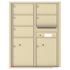 5 Oversized Tenant Doors with 2 Parcel Lockers and Outgoing Mail Compartment - 4C Wall Mount 11-High Mailboxes - 4C11D-05