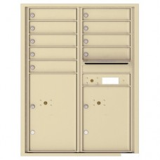 9 Tenant Doors with 2 Parcel Lockers and Outgoing Mail Compartment - 4C Wall Mount 11-High Mailboxes - 4C11D-09