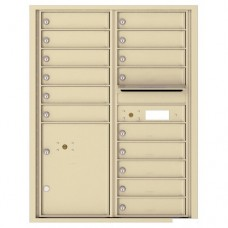 15 Tenant Doors with Parcel Locker and Outgoing Mail Compartment - 4C Wall Mount 11-High Mailboxes - 4C11D-15