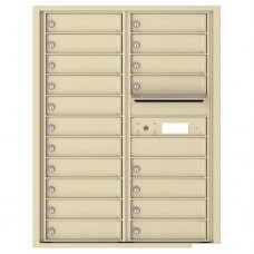 19 Tenant Doors with Outgoing Mail Compartment - 4C Wall Mount 11-High Mailboxes - 4C11D-19