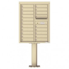 20 Tenant Doors with Outgoing Mail Compartment (Pedestal Included) - 4C Pedestal Mount 11-High Mailboxes - 4C11D-20-P
