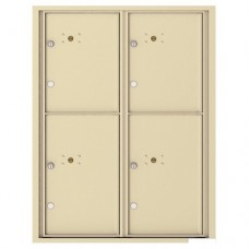 4 Parcel Doors Unit - 4C Wall Mount 11-High - 4C11D-4P