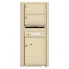 2 Oversized Tenant Doors with 1 Parcel Lockers and Outgoing Mail Compartment - 4C Wall Mount 11-High Mailboxes - 4C11S-02