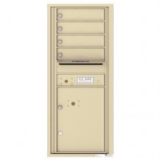 4 Tenant Doors with 1 Parcel Lockers and Outgoing Mail Compartment - 4C Wall Mount 11-High Mailboxes - 4C11S-04