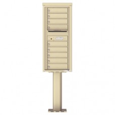 9 Tenant Doors with Outgoing Mail Compartment (Pedestal Included) - 4C Pedestal Mount 11-High Mailboxes - 4C11S-09-P