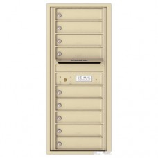 9 Tenant Doors with Outgoing Mail Compartment - 4C Wall Mount 11-High Mailboxes - 4C11S-09