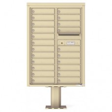 22 Tenant Doors with Outgoing Mail Compartment (Pedestal Included) - 4C Pedestal Mount 12-High Mailboxes - 4C12D-22-P