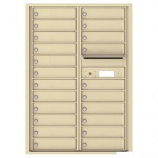 22 Tenant Doors with Outgoing Mail Compartment - 4C Wall Mount 12-High Mailboxes - 4C12D-22