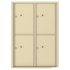 4 Parcel Doors Unit - 4C Wall Mount 12-High - 4C12D-4P