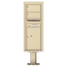 2 Over-sized Tenant Doors with 1 Parcel Door and Outgoing Mail Compartment (Pedestal Included) - 4C Pedestal Mount 12-High Mailboxes - 4C12S-02-P