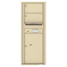 2 Oversized Tenant Doors with 1 Parcel Locker and Outgoing Mail Compartment - 4C Wall Mount 12-High Mailboxes - 4C12S-02