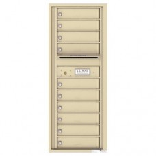 10 Tenant Doors with Outgoing Mail Compartment - 4C Wall Mount 12-High Mailboxes - 4C12S-10