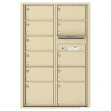11 Oversized Tenant Doors and Outgoing Mail Compartment - 4C Wall Mount 13-High Mailboxes - 4C13D-11