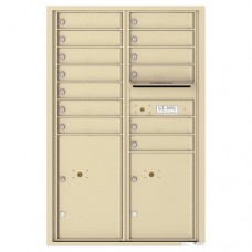 13 Tenant Doors with 2 Parcel Lockers and Outgoing Mail Compartment - 4C Wall Mount 13-High Mailboxes - 4C13D-13