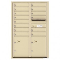 14 Tenant Doors with 2 Parcel Lockers and Outgoing Mail Compartment - 4C Wall Mount 13-High Mailboxes - 4C13D-14