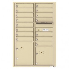 15 Tenant Doors with 2 Parcel Lockers and Outgoing Mail Compartment - 4C Wall Mount 13-High Mailboxes - 4C13D-15