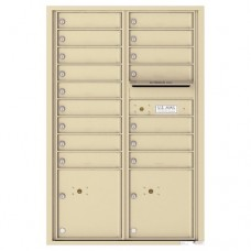 16 Tenant Doors with 2 Parcel Lockers and Outgoing Mail Compartment - 4C Wall Mount 13-High Mailboxes - 4C13D-16