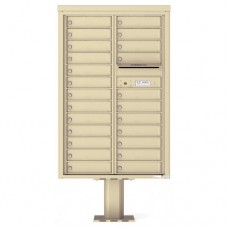 24 Tenant Doors with Outgoing Mail Compartment (Pedestal Included) - 4C Pedestal Mount 13-High Mailboxes - 4C13D-24-P