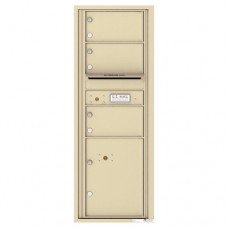 3 Oversized Tenant Doors with 1 Parcel Locker and Outgoing Mail Compartment - 4C Wall Mount 13-High Mailboxes - 4C13S-03