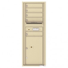 5 Tenant Doors with 1 Parcel Locker and Outgoing Mail Compartment - 4C Wall Mount 13-High Mailboxes - 4C13S-05