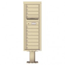 11 Tenant Doors with Outgoing Mail Compartment (Pedestal Included) - 4C Pedestal Mount 13-High Mailboxes - 4C13S-11-P