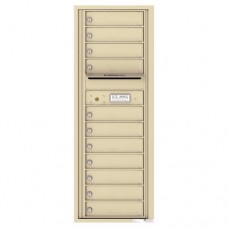 11 Tenant Doors with Outgoing Mail Compartment - 4C Wall Mount 13-High Mailboxes - 4C13S-11