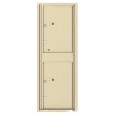 2 Parcel Doors Unit - 4C Wall Mount 13-High - 4C13S-2P