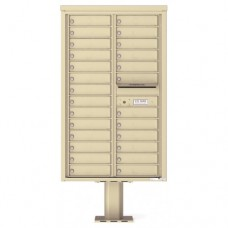 26 Tenant Doors with Outgoing Mail Compartment (Pedestal Included) - 4C Pedestal Mount 14-High Mailboxes - 4C14D-26-P