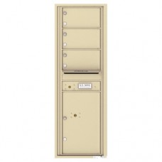 3 Oversized Tenant Doors with 1 Parcel Locker and Outgoing Mail Compartment - 4C Wall Mount 14-High Mailboxes - 4C14S-03