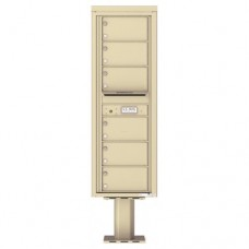 6 Over-sized Tenant Doors with Outgoing Mail Compartment (Pedestal Included) - 4C Pedestal Mount 14-High Mailboxes - 4C14S-06-P