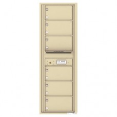 6 Over-Sized Tenant Doors with Outgoing Mail Compartment - 4C Wall Mount 14-High Mailboxes - 4C14S-06
