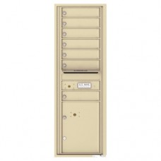 7 Tenant Doors with 1 Parcel Locker and Outgoing Mail Compartment - 4C Wall Mount 14-High Mailboxes - 4C14S-07