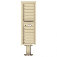12 Tenant Doors with Outgoing Mail Compartment (Pedestal Included) - 4C Pedestal Mount 14-High Mailboxes - 4C14S-12-P