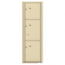 3 Parcel Doors Unit - 4C Wall Mount 14-High - 4C14S-3P