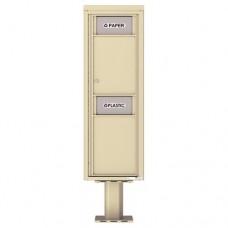 Trash / Recycling Bin (Pedestal Included) - 4C Pedestal Mount 14-High - 4C14S-BIN-P
