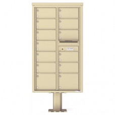 13 Over-sized Tenant Doors with Outgoing Mail Compartment (Pedestal Included) - 4C Pedestal Mount 15-High Mailboxes - 4C15D-13-P