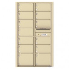 13 Oversized Tenant Doors and Outgoing Mail Compartment - 4C Wall Mount 15-High Mailboxes - 4C15D-13