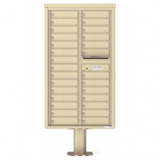 28 Tenant Doors with Outgoing Mail Compartment (Pedestal Included) - 4C Pedestal Mount 15-High Mailboxes - 4C15D-28-P