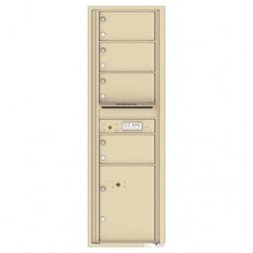 4 Oversized Tenant Doors with 1 Parcel Locker and Outgoing Mail Compartment - 4C Wall Mount 15-High Mailboxes - 4C15S-04