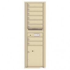 8 Tenant Doors with 1 Parcel Locker and Outgoing Mail Compartment - 4C Wall Mount 15-High Mailboxes - 4C15S-08