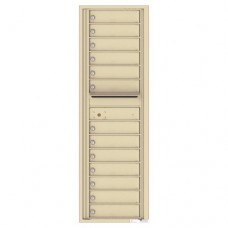 13 Tenant Doors with Outgoing Mail Compartment - 4C Wall Mount 15-High Mailboxes - 4C15S-13