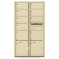 9 Oversized Tenant Doors with 2 Parcel Lockers and Outgoing Mail Compartment - 4C Wall Mount Max Height Mailboxes - 4C16D-09
