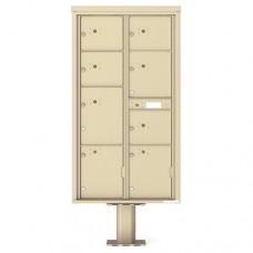 8 Parcel Doors Unit - 4C Pedestal Mount Max Height (Pedestal Included) - 4C16D-8P-P