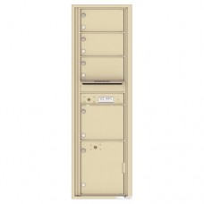4 Oversized Tenant Doors with 1 Parcel Locker and Outgoing Mail Compartment - 4C Wall Mount Max Height Mailboxes - 4C16S-04