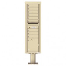 9 Tenant Doors with 1 Parcel Door and Outgoing Mail Compartment (Pedestal Included) - 4C Pedestal Mount Max Height Mailboxes - 4C16S-09-P