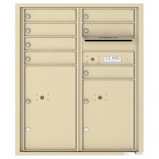 7 Tenant Doors with 2 Parcel Lockers and Outgoing Mail Compartment - 4C Wall Mount ADA Max Height Mailboxes - 4CADD-07